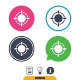 Crosshair sign icon. Target aim symbol. Royalty Free Stock Photo
