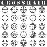 Crosshair Symbolsuppsättning i vektor Arkivfoton