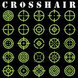 Crosshair Symbolsuppsättning i vektor Royaltyfria Bilder