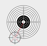 Crosshair and target Royalty Free Stock Image