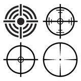 Crosshair target set vector symbol icon design. Royalty Free Stock Photos