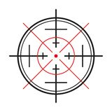 Crosshair on white background Royalty Free Stock Photo