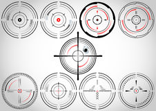 Crosshairs stock illustrationer