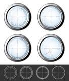 Crosshairs del tiratore franco messi illustrazione di stock