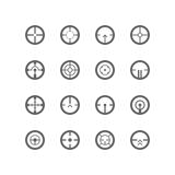 Crosshairs icon set Stock Photos