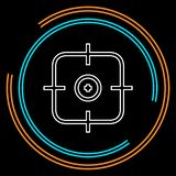 Crosshairs icon - vector target aim royalty free illustration