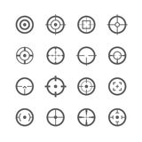 Crosshairs ikony Fotografia Royalty Free
