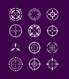 Crosshairs ikony set ilustracji