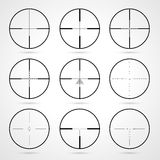 Crosshairs set Royalty Free Stock Image