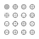 Crosshairspictogrammen vector illustratie