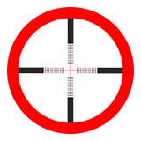 Crosshairssymbol - vektormålsyftet, prickskyttsymbol - vapenillustration Arkivfoto