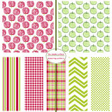 Seamless Repeating Patterns - Crosshatch Apples Stock Photography
