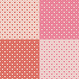 Crosshatch Hearts Seamless Background Pattern Stock Image