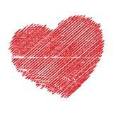 Crosshatching Valentines Stock Photography
