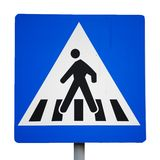 Crossing. Old traffic sign. pedestrian crossing Royalty Free Stock Image