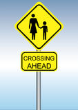Crossing ahead Royalty Free Stock Photos