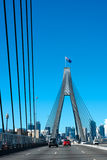Crossing the Anzac Bridge, Sydney Stock Images