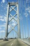 Crossing the Bay bridge Stock Photography