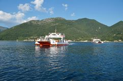 Crossing the Bay of Kotor (Boka) Royalty Free Stock Images