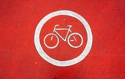 crossing bicycle path Stock Images