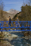 Crossing the blue Stock Photos
