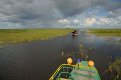 Crossing boats on the Tonle Sap Lake Cambodia Stock Photos