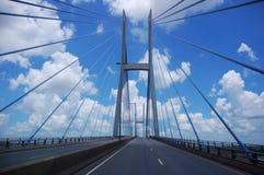 Crossing bridge stock photography