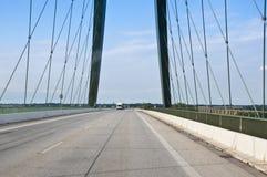 Crossing a bridge Stock Photo