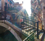 Crossing bridge in Venice Royalty Free Stock Photo