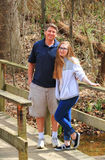 Crossing Bridges - Dad and Daughter Stock Photography