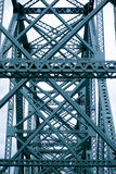 Crossing of bridges farm forms an industrial pattern Stock Photo