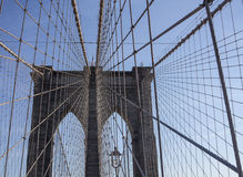 Crossing Brooklyn Bridge on a sunny day, NYC 4 Stock Image