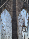Crossing Brooklyn Bridge on a sunny day, NYC 3 Stock Photos