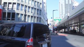 Crossing at the business town in Roppongi Tokyo