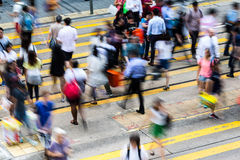 Crossing Busy Hong Kong Royalty Free Stock Image