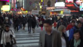 Crossing a busy street (8 of 11) stock footage