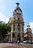 Crossing the Calle de Alcala and Gran Via Royalty Free Stock Photography