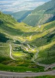 Crossing Carpathian mountains in Romania. Transfagarasan mountain. Transfagarasan highway. Royalty Free Stock Photography