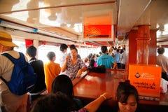 Crossing Chao Phraya River, Bangkok Stock Photo