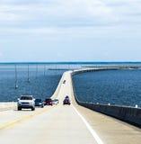 Crossing the Dauphin Island Bridge Royalty Free Stock Photos