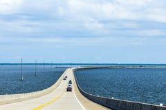 Crossing the Dauphin Island Bridge Royalty Free Stock Images