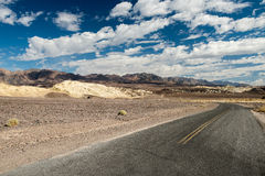Crossing Death Valley. A typical USA desert road. Death Valley Raw Landscape stock images