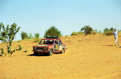 Crossing the desert, Mauritania Royalty Free Stock Photo