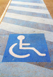 Crossing for disabled Royalty Free Stock Images