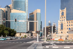 Crossing in Doha downtown, Qatar Royalty Free Stock Images