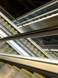 Crossing Double Escalator Ascend and Descend Stock Photography