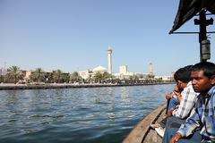 Crossing the Dubai Creek Stock Image