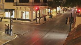 Crossing Duval Street Key West stock video