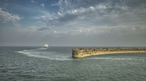 Crossing Ferry in Port of Dover stock photography