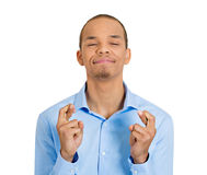 Crossing fingers Stock Photography